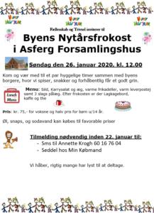Byens Nytårsfrokost 26/1-2020 @ Asferg Forsamlingshus