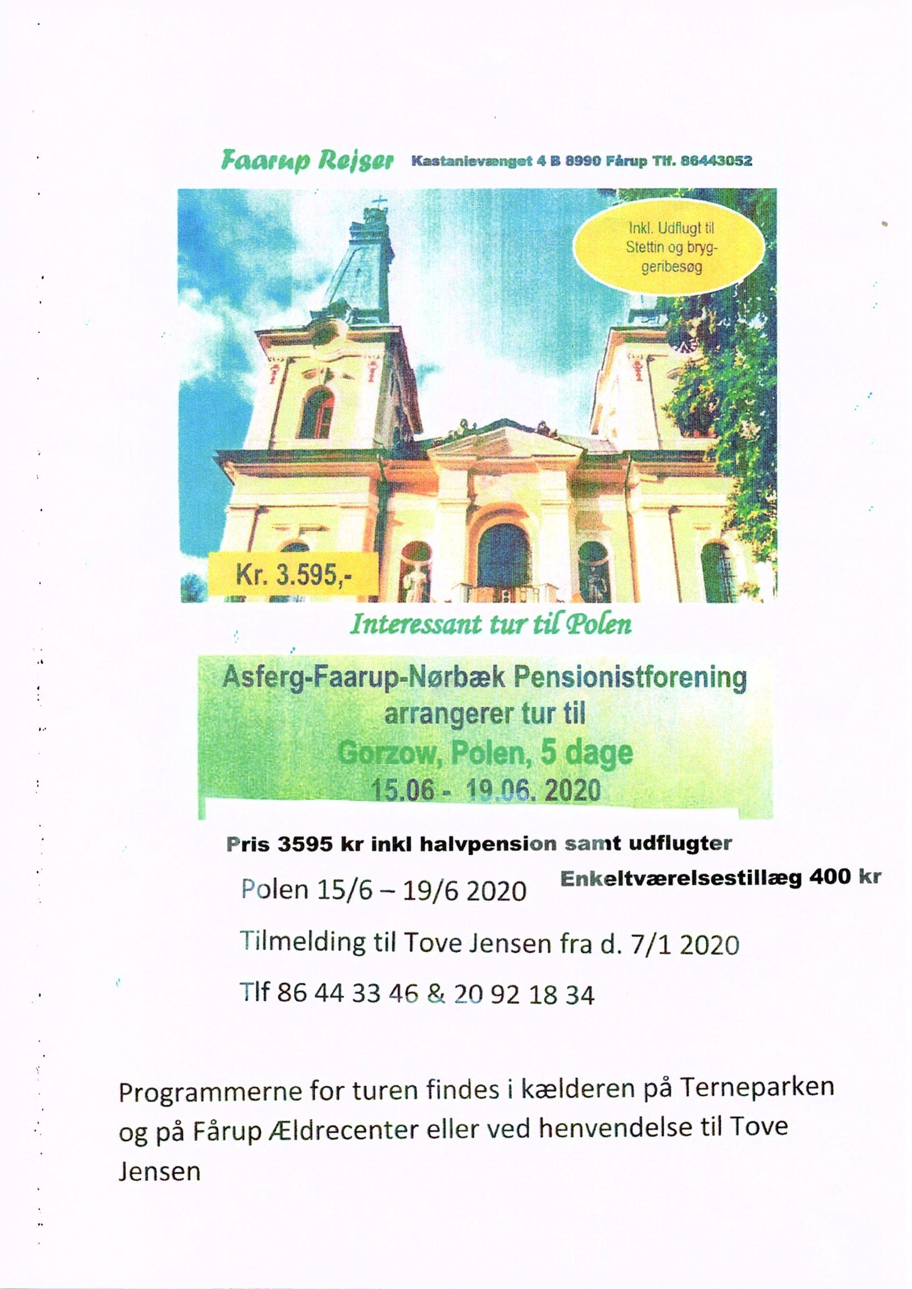 Aflyst .Interessant tur til Gorzow, Polen 5 dage
