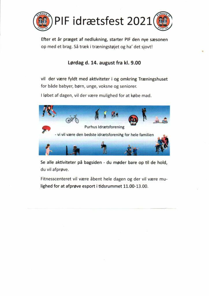 PIF idrætsfest 2021 @ Træningshuset i Asferg